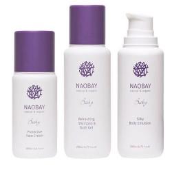ESTUCHE REGALO BEBE NAOBAY (Gel baño + Loción corporal + Crema facial)