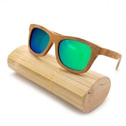 Gafas bambú verdes
