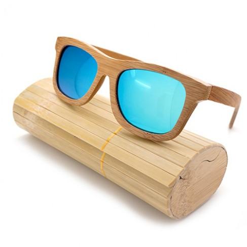 Gafas bambú azul