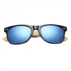 Gafas patillas madera azul