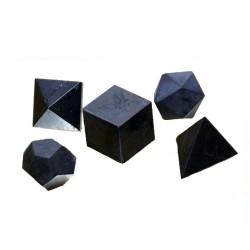 Sólidos platónicos piedra shungit