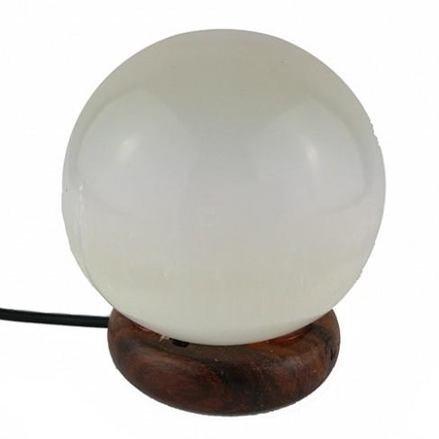 Lámpara selenita esfera USB